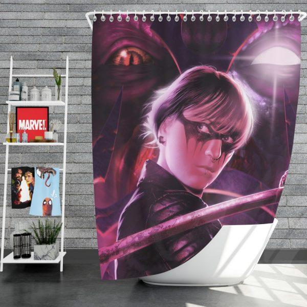 Demon Hunter Movie Shower Curtain