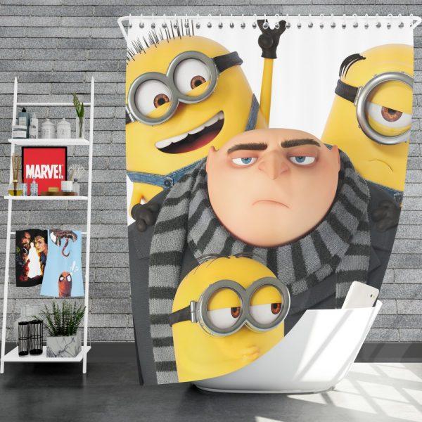 Despicable Me 3 Movie Bob Gru KevinStuart Shower Curtain