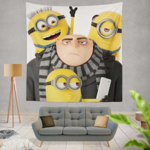 Despicable Me 3 Movie Bob Gru KevinStuart Wall Hanging Tapestry