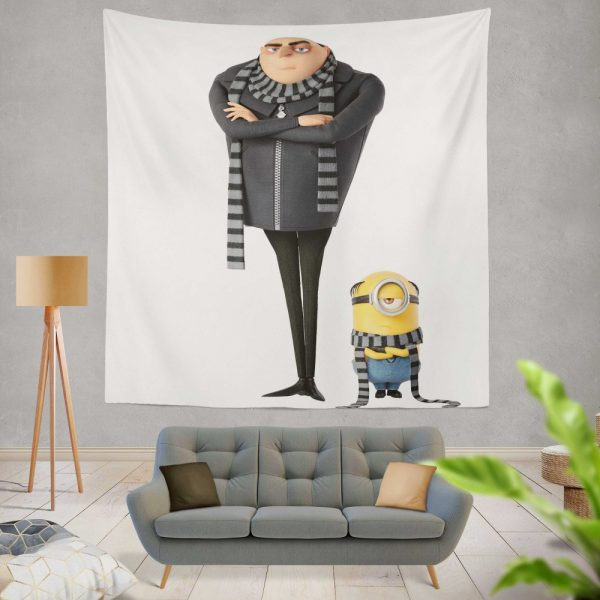 Despicable Me 3 Movie Gru Stuart Wall Hanging Tapestry