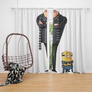 Despicable Me 3 Movie Gru Stuart Window Curtain