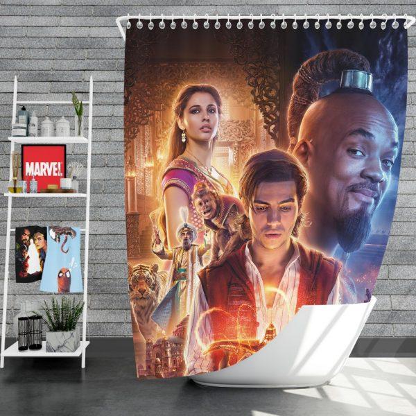 Disney Aladdin Movie Will Smith Mena Massoud Naomi Scott Shower Curtain
