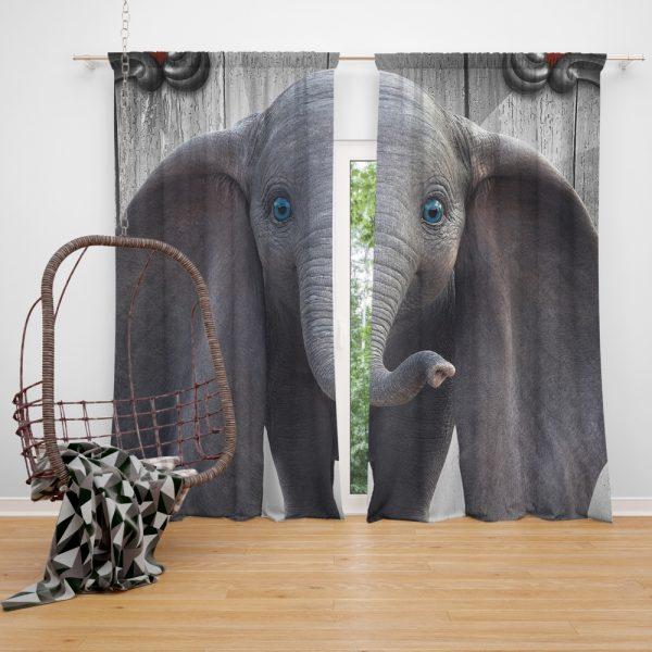 Disney Kids Dumbo 2019 Movie Window Curtain