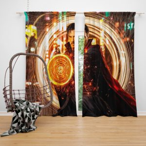 Doctor Strange Movie Benedict Cumberbatch Window Curtain