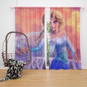 Elsa in Frozen 2 Movie Window Curtain