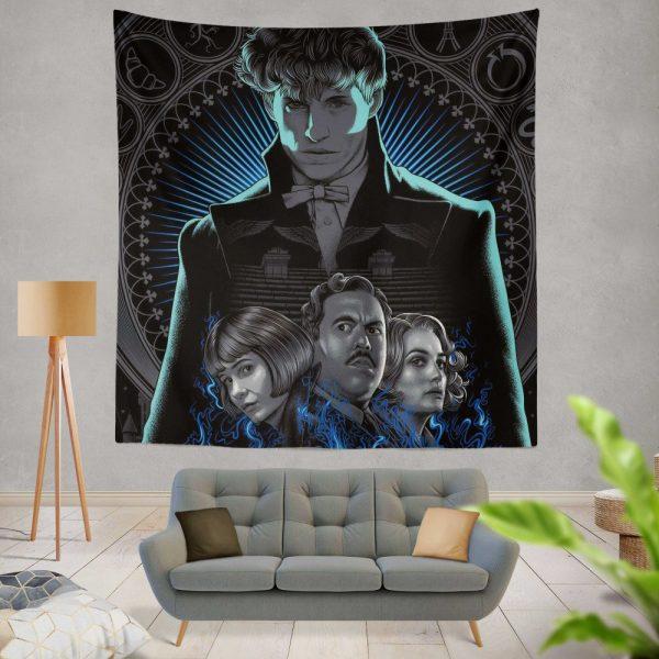 Fantastic Beasts The Crimes of Grindelwald Movie Eddie Redmayne Katherine Waterston Wall Hanging Tapestry