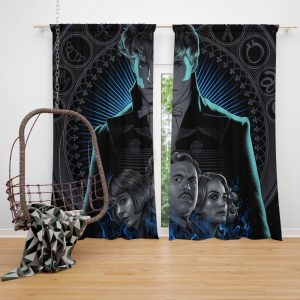 Fantastic Beasts The Crimes of Grindelwald Movie Eddie Redmayne Katherine Waterston Window Curtain