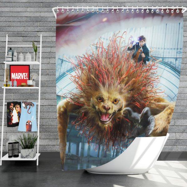 Fantastic Beasts The Crimes of Grindelwald Movie Eddie Redmayne Shower Curtain