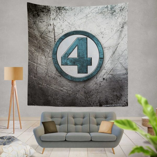 Fantastic Four Logo Marvel Comics Wall Hanging Tapestry