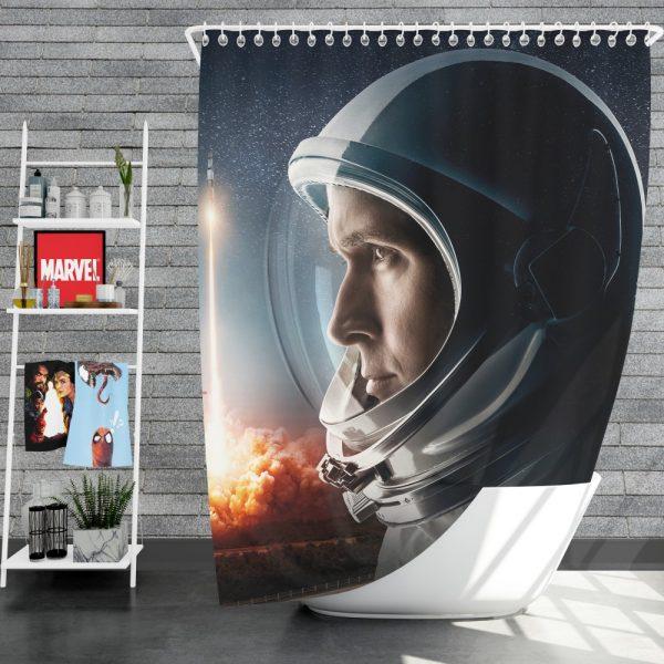 First Man Movie Astronaut Ryan Gosling Shower Curtain