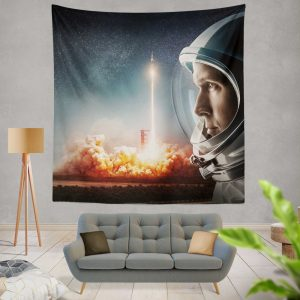 First Man Movie Astronaut Ryan Gosling Wall Hanging Tapestry
