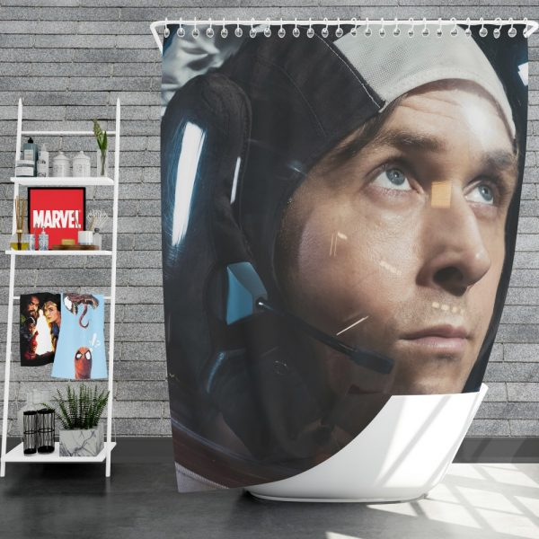 First Man Movie Ryan Gosling Shower Curtain