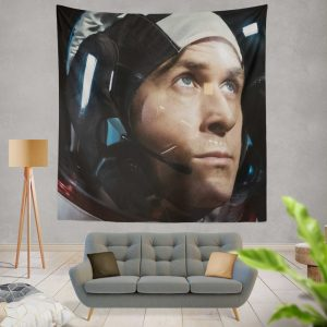 First Man Movie Ryan Gosling Wall Hanging Tapestry
