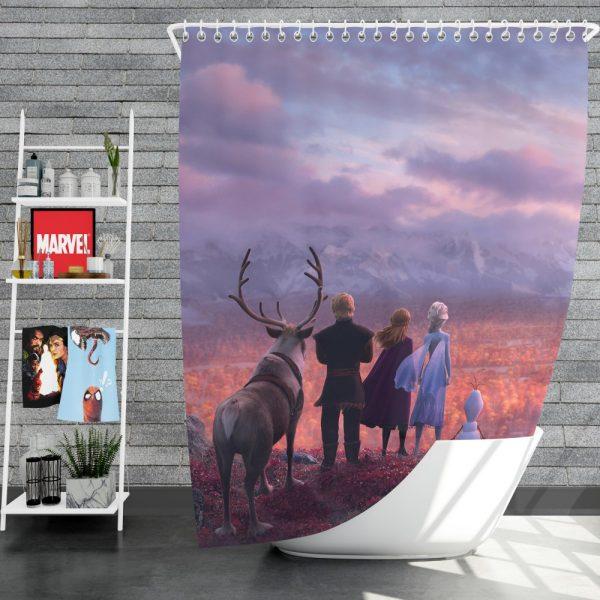Frozen 2 Movie AnnaElsaKristoffOlafShower Curtain