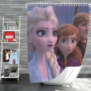 Frozen 2 Movie AnnaElsaKristoffShower Curtain