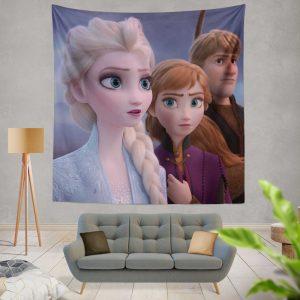 Frozen 2 Movie AnnaElsaKristoffWall Hanging Tapestry