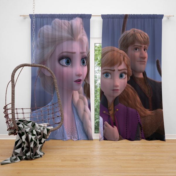Frozen 2 Movie AnnaElsaKristoffWindow Curtain