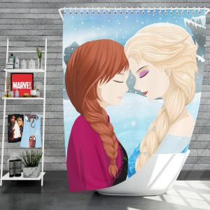 Frozen Movie Anna & Elsa Shower Curtain