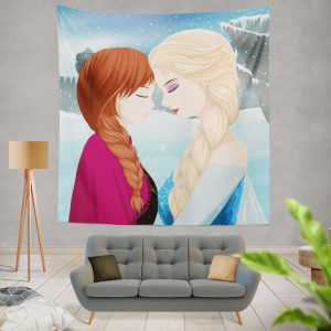 Frozen Movie Anna & Elsa Wall Hanging Tapestry