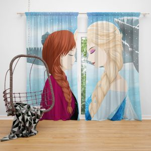 Frozen Movie Anna & Elsa Window Curtain