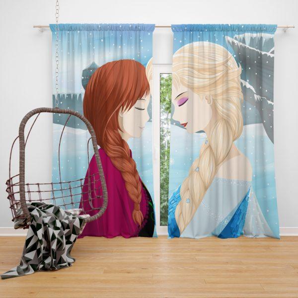 Frozen Movie Anna & Elsa Window Curtain