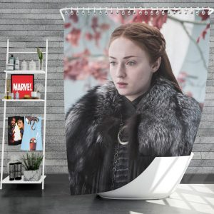 Game Of Thrones TV Series Sansa Stark Sophie Turner Shower Curtain