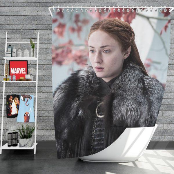 Game Of Thrones TV Series Sansa Stark Sophie Turner Shower Curtain