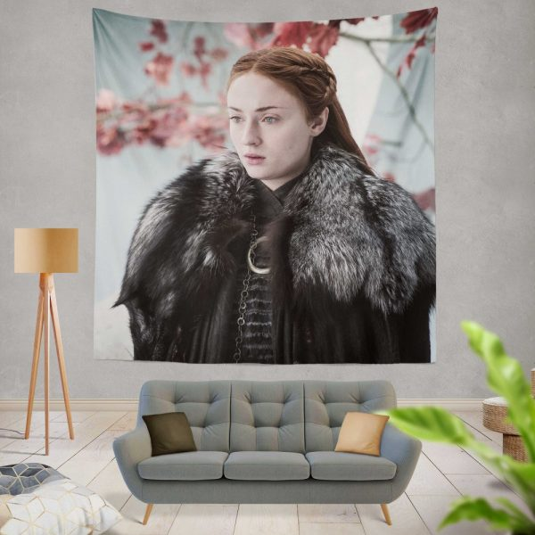Game Of Thrones TV Series Sansa Stark Sophie Turner Wall Hanging Tapestry