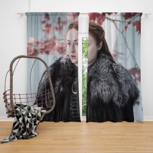 Game Of Thrones TV Series Sansa Stark Sophie Turner Window Curtain