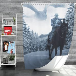 Game Of Thrones TV Show White Walker Shower Curtain