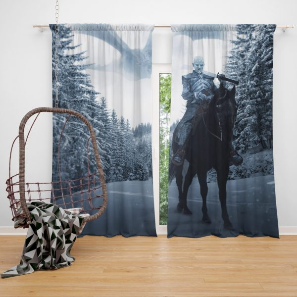 Game Of Thrones TV Show White Walker Window Curtain