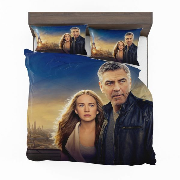 George Clooney & Brittany Robertson in Tomorrowland Movie Bedding Set 2