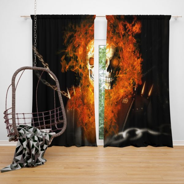 Ghost Rider Movie Ghost Rider Window Curtain