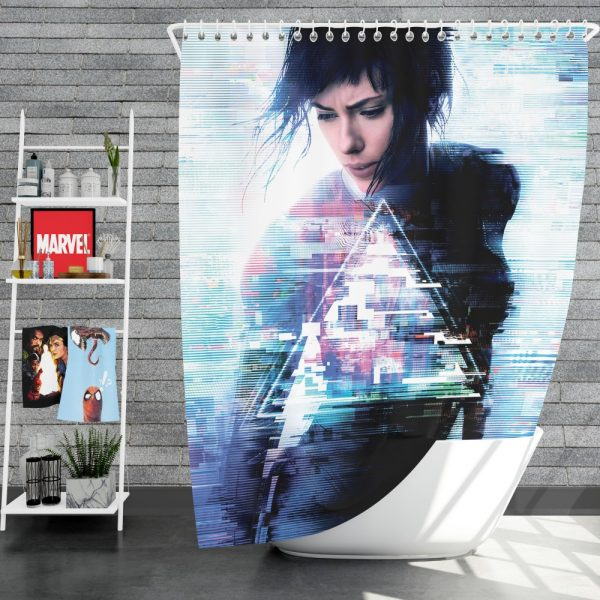 Ghost in the Shell 2017 Movie Scarlett Johansson Shower Curtain