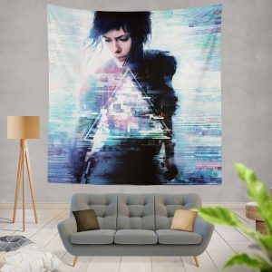 Ghost in the Shell 2017 Movie Scarlett Johansson Wall Hanging Tapestry
