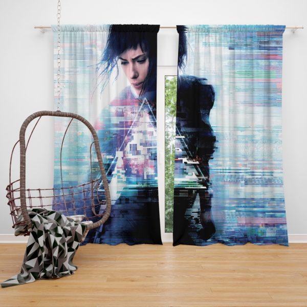 Ghost in the Shell 2017 Movie Scarlett Johansson Window Curtain