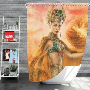 Gods Of Egypt Movie Crown Elodie Yung Goddess Hathor Shower Curtain