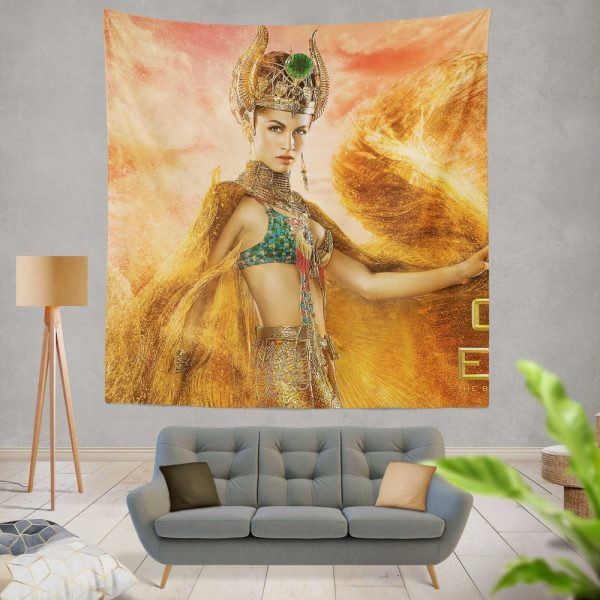 Gods Of Egypt Movie Crown Elodie Yung Goddess Hathor Wall Hanging Tapestry