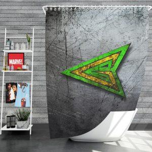 Green Arrow Logo DC Comics Shower Curtain