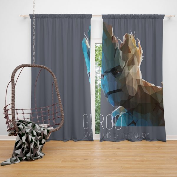 Groot in Guardians of the Galaxy Movie Marvel Window Curtain