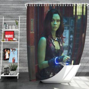 Guardians of the Galaxy Movie Gamora Zoe Saldana Shower Curtain
