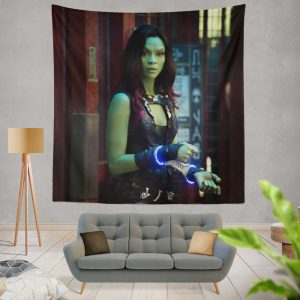 Guardians of the Galaxy Movie Gamora Zoe Saldana Wall Hanging Tapestry
