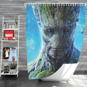 Guardians of the Galaxy Movie Groot Shower Curtain