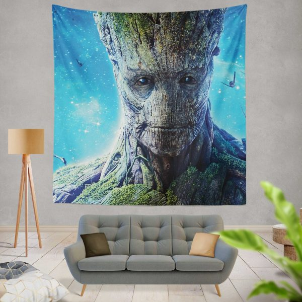 Guardians of the Galaxy Movie Groot Wall Hanging Tapestry