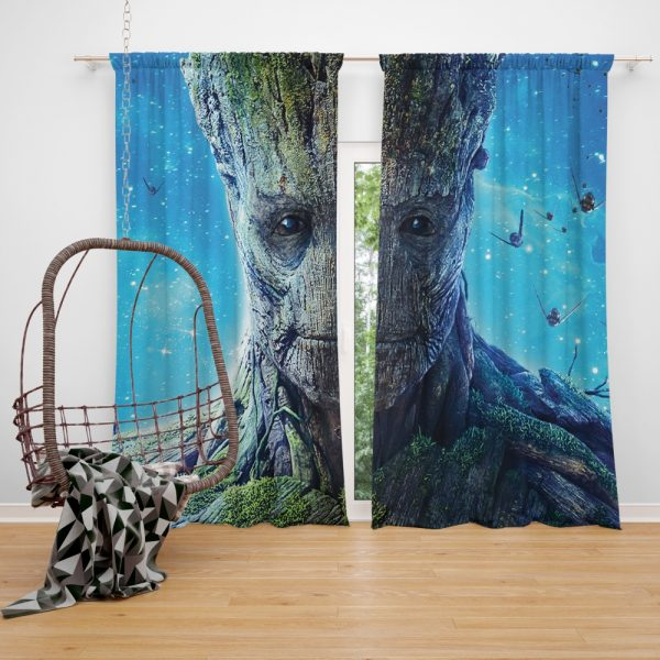Guardians of the Galaxy Movie Groot Window Curtain