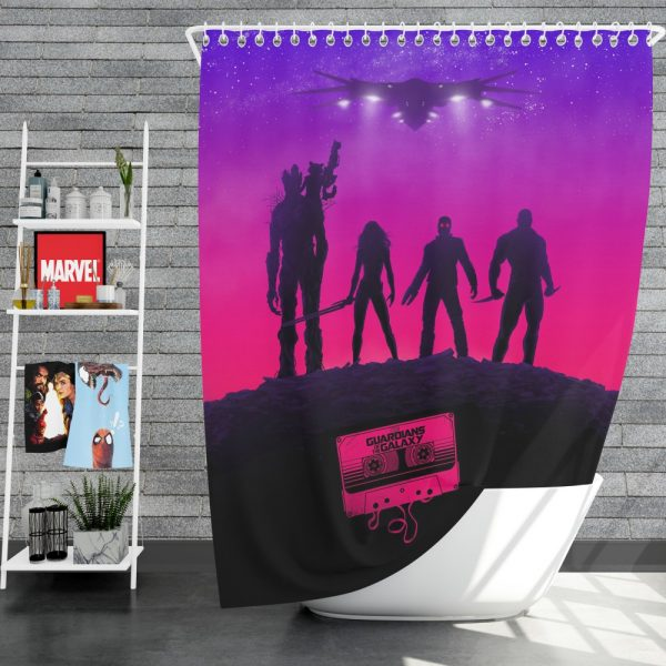 Guardians of the Galaxy Movie Guardians of the Galaxy Shower Curtain