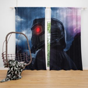 Guardians of the Galaxy Movie Star Lord Window Curtain