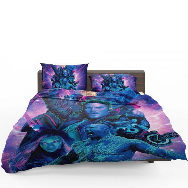Guardians of the Galaxy Vol 2 Movie Chris Pratt Dave Bautista Drax The Destroyer Gamora Bedding Set 1
