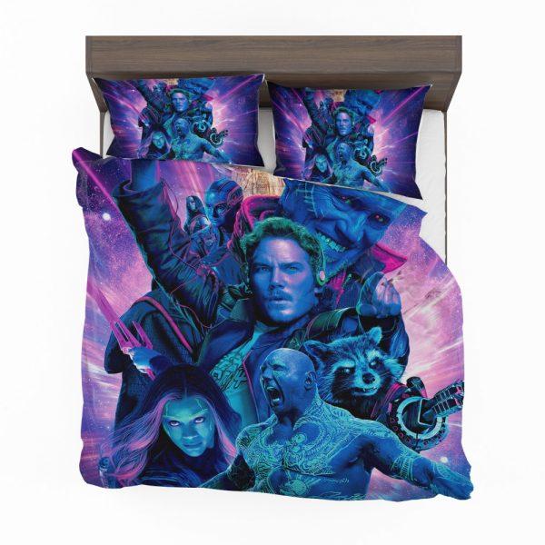 Guardians of the Galaxy Vol 2 Movie Chris Pratt Dave Bautista Drax The Destroyer Gamora Bedding Set 2