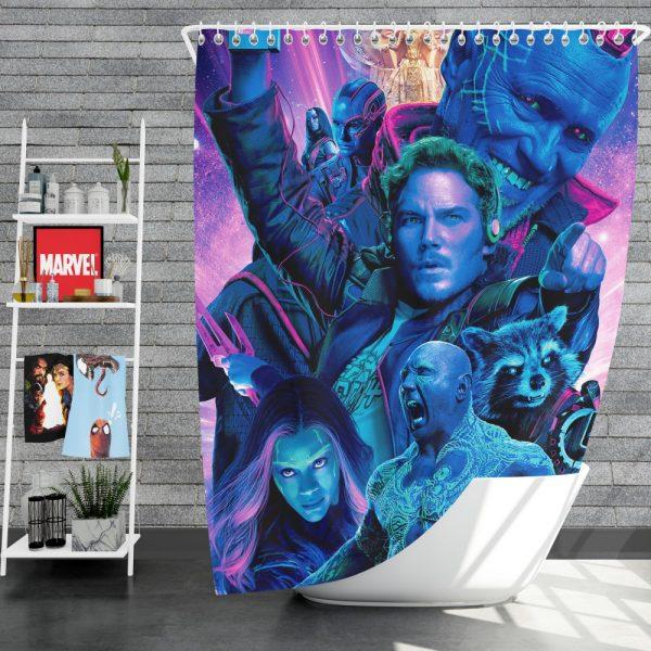 Guardians of the Galaxy Vol 2 Movie Chris Pratt Dave Bautista Drax The Destroyer Gamora Shower Curtain